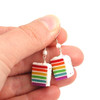 rainbow cake earrings by inedible jewelry