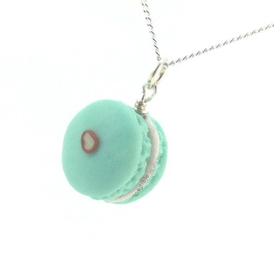 almond macaron necklace by inedible jewelry