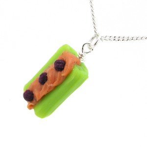 ants on a log necklace by inedible jewelry