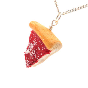 deep dish pizza necklace