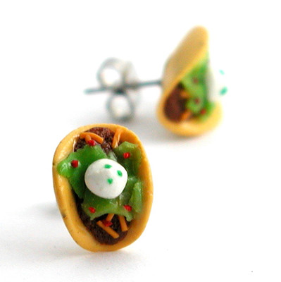 taco studs by inedible jewelry
