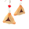 raspberry hamantaschen earrings by inedible jewelry