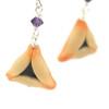 poppyseed hamantaschen earrings by inedible jewelry