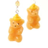 honey bear earrings by inedible jewelry