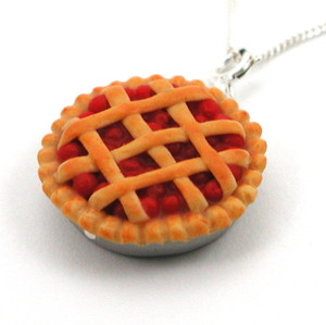 cherry pie necklace by inedible jewelry