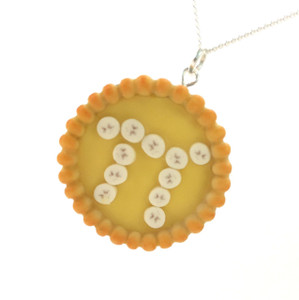 banana cream pi pie necklace by inedible jewelry