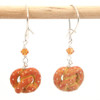 soft pretzel earrings by inedible jewelry