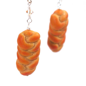 challah earrings by inedible jewelry
