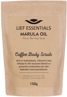 SOFT AND GENTLE COFFEE AND MARULA OIL EXFOLIATOR rich in antioxidants, vitamin C and Omega-9. Leaves the skin smooth soft and pampered IMPROVE SKIN CONDITION. Natural coffee scrub enhances circulation. Helps firm and smooth cellulite. Removes dead and flaking skin. Hydrates and moisturises THE NEW ARGAN OIL, quickly becoming more popular and renowned for anti-aging, reducing inflammation and calming redness NATURALLY DEEPLY NOURISHING. Stimulates collagen production reducing wrinkles, fine lines, pigmentation problems, stretch marks and scars NATURALLY ANTI-AGING being rich in Omega oils, antioxidants, vitamin C and E, helps you to achieve younger looking plump and radiant skin