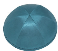 Teal Satin Kippah