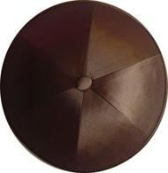 Medium Brown Satin Kippah