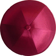 Red Wine Satin Kippah