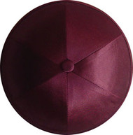 Burgundy Satin Kippah