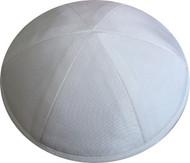 White Raw Silk Kippah