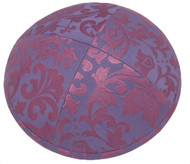 Pink Pattern Silk Kippah