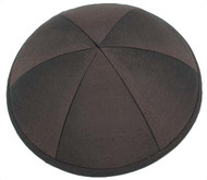 Dark Chocolate Brown Silk Kippah