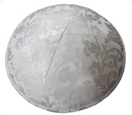 Pale Blue Pattern Silk Kippah