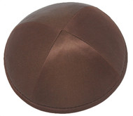 Deep Brown Silk Kippah