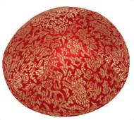 Orange Pattern Brocade Kippah