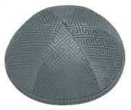 Grey Link Brocade Kippah