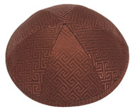Brown Link Brocade Kippah