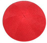 Red Link Brocade Kippah