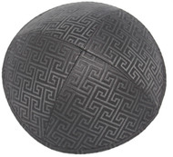 Black Link Brocade Kippah