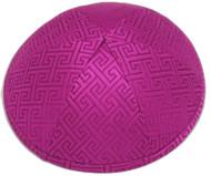 Pink Link Brocade Kippah