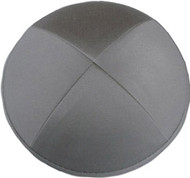 Gray Cotton Kippah