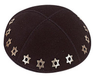 Star of David Embossed Kippah