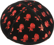 Flowers Embossed Kippah