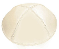 Ivory Leather Kippah