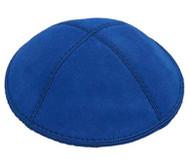 Royal Blue Suede Kippah
