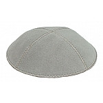 Light Gray Suede Kippah