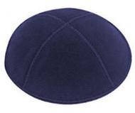 Navy Blue Suede Kippah