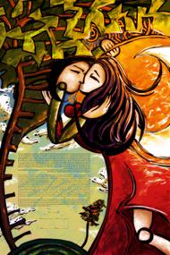 The Loving Embrace Ketubah