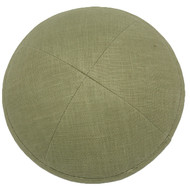 Apple Green Linen Kippah