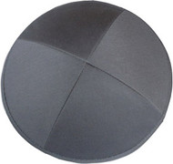 Dark Grey Cotton Kippah