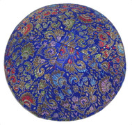 Blue Bouquet Brocade Kippah