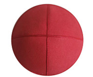Cherry Red Eco Suede Kippah