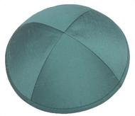 Turquoise Raw Silk Kippah