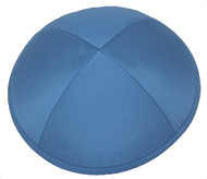 Ocean Blue Raw Silk Kippah