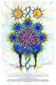 Starry Kaleidoscope Ketubah by Nava Shoham