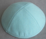 Baby Blue Wool Kippah