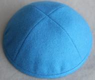 Cerulean Blue Wool Kippah