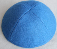 Lapis Blue Wool Kippah