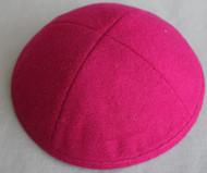 Fuscia Wool Kippah
