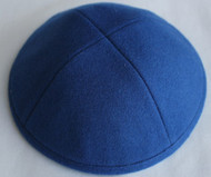 Azure Blue Wool Kippah