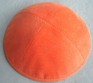 Orange Corduroy Kippah