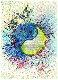 Yin Yang Ahava Ketubah by Nava Shoham